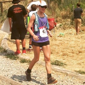Robyn Carr participating in Bozeman's annual Ridge Run